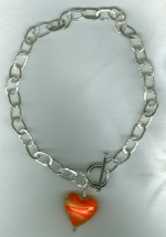 Hammered fine Silver chain necklace VEN4245