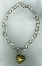 Hammered fine Silver chain necklace VEN4250