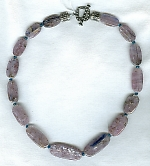 Kyanite flat tube Necklace NUG2222