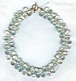 White cornflake Keishi pearl Necklace PRL3107