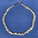 White double Freshwater pearl necklace PRL3059