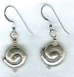 Sea Shell silver earrings NUG2267