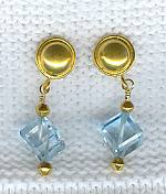 Swiss Blue Topaz earrings FAC1187