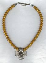 Faceted yellow Jade Necklace FAC1210