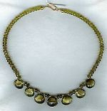 Topaz briolettes with matching 6mm Tourmaline rondel necklace CC6065