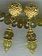 6mm faceted Tourmaline rondel earrings CC6066