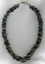 Faceted Iolite onion necklace CC6146