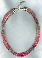 Faceted pink & gray Sapphire necklace CC6147