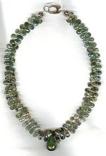 Moss Agate and Emerald necklace FAC1927