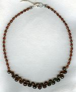 Faceted red Garnet teardrop and onion necklace FAC1932