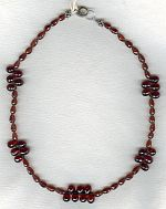Faceted red Garnet teardrop necklace FAC1933