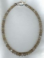 Gray moonglow Moonstone rondel necklace FAC1935
