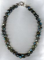 Irridescent Labradorite onion necklace FAC1937