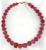 Natural Ruby hexagon necklace FAC1939