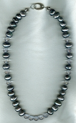 Freshwater pearls and Quartz necklace PRL3159