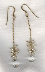 CZ earrings FAC8246