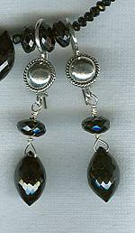 Faceted black Spinel earrings FAC1577