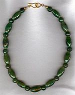 Faceted Nephrite Jade barrel necklace CC6151
