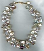 South Seas cornflake Keishi pearl necklace PRL3154