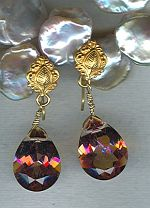 Pink Mystic Topaz drop earrings PRL3155