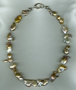 Natural baroque Freshwater pearl necklace PRL3161
