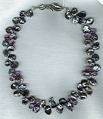 South Sea peacock Keishi pearls with Amethyst necklace PRL3123