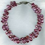 """14mm hot pink South Sea ""cornflake"" Keishi pearls with pink Topaz necklace"" PRL3126"