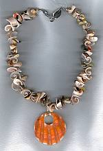 Natural Shell necklace with Oyster drop PRL3146