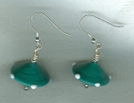 Turquoise Venetian glass saucer earrings VEN4242