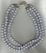 Fluted gray Agate necklace FAC1953