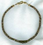 6 to 10mm faceted Andalusite rondel necklace CC6087