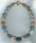 AAA quality multi-color Aquamarine necklace CC6088