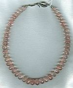 "AAA quality, micro-faceted rose Quartz necklace"" CC6089"