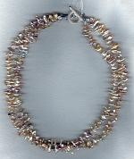 Natual peach Keishi pearl necklace PRL3148
