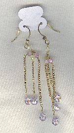 SPECIAL PURCHASE!! Lavender CZ drop earrings FAC8128