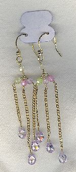 SPECIAL PURCHASE!! Lavender  CZ drop earrings FAC8130