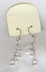 SPECIAL PURCHASE!!  Clear faceted CZ drop earrings FAC8131