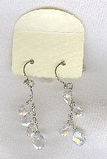 SPECIAL PURCHASE!!  Clear faceted CZ drop earrings FAC8132