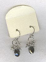 SPECIAL PURCHASE!!  Black faceted CZ drop earrings FAC8133