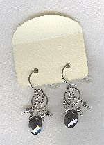 SPECIAL PURCHASE!!  Black faceted CZ drop earrings FAC8134