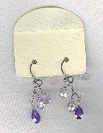 SPECIAL PURCHASE!!  Lavender faceted CZ drop earrings FAC8135