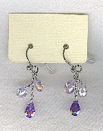 SPECIAL PURCHASE!!  Lavender faceted CZ drop earrings FAC8136