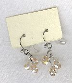 SPECIAL PURCHASE!!  Peach faceted CZ drop earrings FAC8137