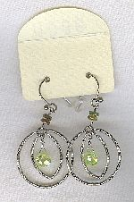 SPECIAL PURCHASE!!  Green faceted CZ drop earrings FAC8140
