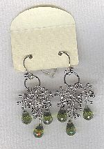 SPECIAL PURCHASE!!  Olive Green faceted CZ drop earrings FAC8146