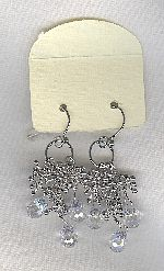 SPECIAL PURCHASE!!  Clear faceted CZ drop earrings FAC8149