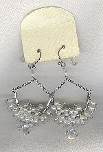 SPECIAL PURCHASE!! Freshwater seed pearl and Cubic Zirconia drop earrings PRL3195