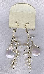 SPECIAL PURCHASE!! Biwa Coin pearl and Freshwater seed pearl earrings PRL3203