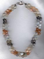 Rainbow Moonstone briolette Necklace FAC1843