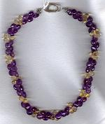Amethyst onions with Citrine briolette necklace FAC1845
